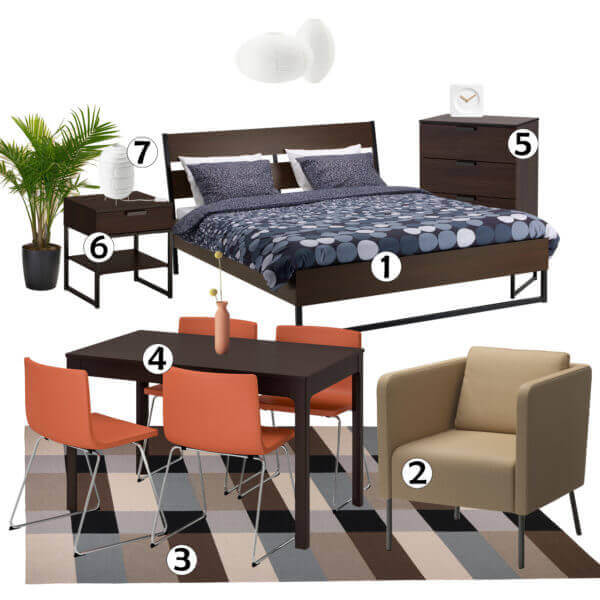 Studio Apartment Furniture Set #3 - Rent Pronto   Furniture For Rent