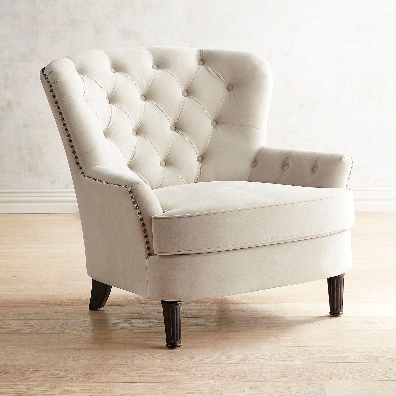 Eliza Cream Tufted Armchair | Pier 1