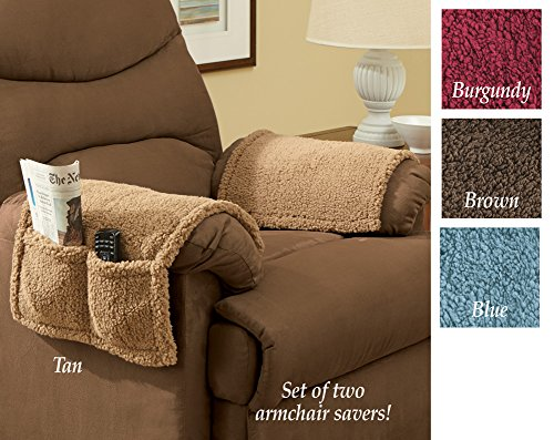 Armchair Covers With Pockets - Set Of 2 Brown - Walmart.com