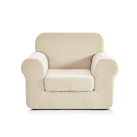 Amazon.com: CHUN YI Jacquard Armchair Covers 2-Piece Stretch