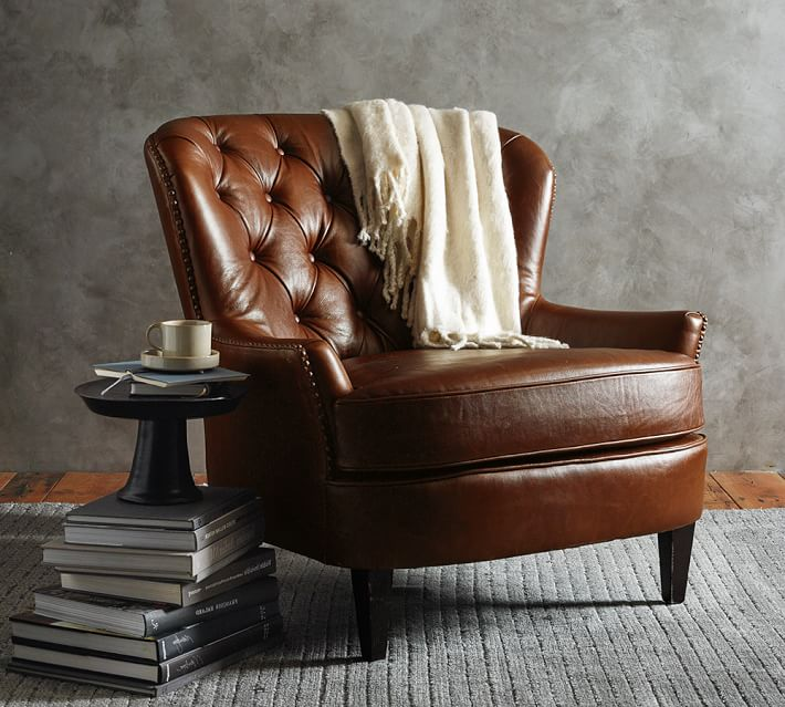 Cardiff Leather Armchair | Pottery Barn