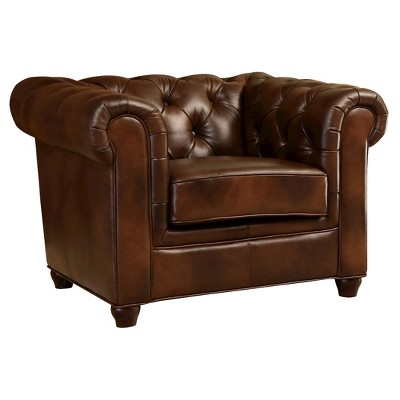 Keswick Tufted Leather Armchair - Abbyson Living : Target