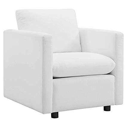 Amazon.com: Modway EEI-3045-WHI Activate Upholstered Fabric Armchair