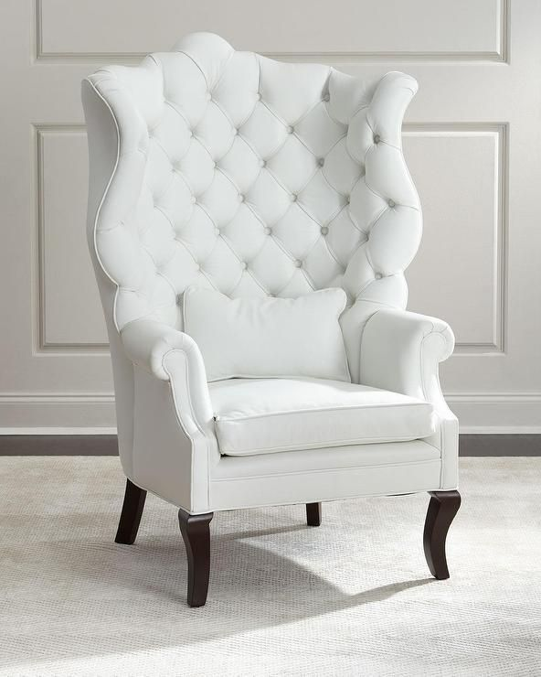 Pantages White Leather Wing Chair. I'm not as much as fan of the