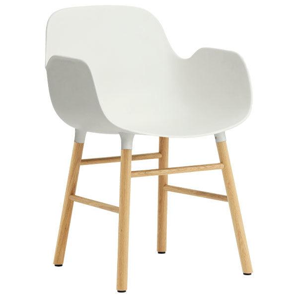 Normann Copenhagen Form armchair, white - oak | Finnish Design Shop
