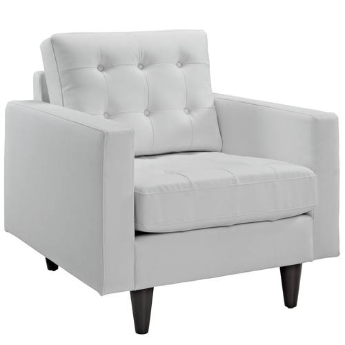Empress Bonded Leather Armchair White by Modern Living