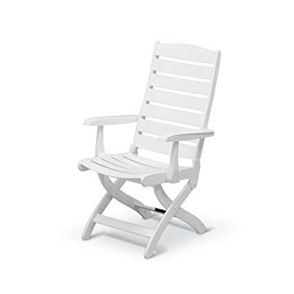 Amazon.com : Kettler Caribic Armchair - White : Garden & Outdoor