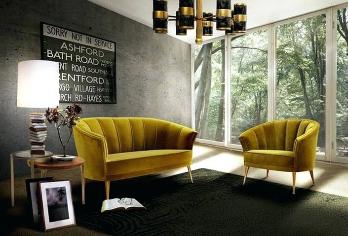 Yellow Armchairs Living Room Decor Ideas Top Velvet Armchairs Within