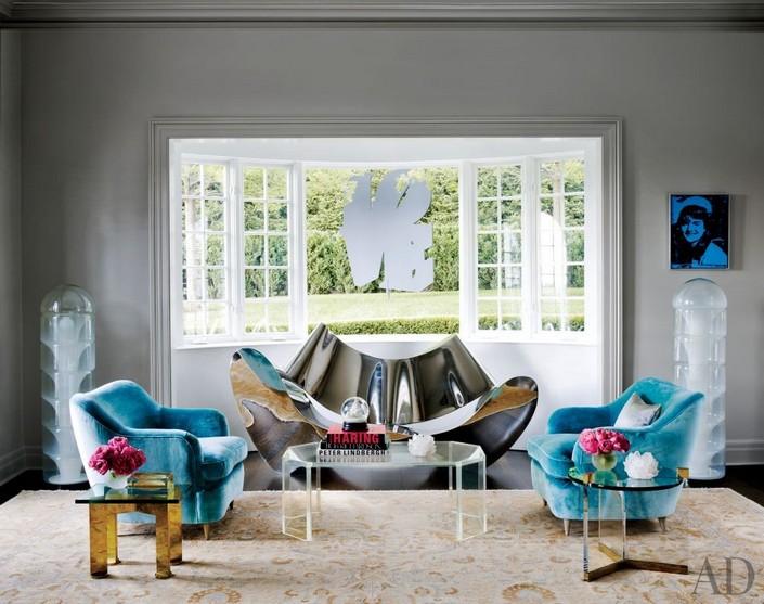 Blue Armchair Living Room - Living Room Ideas