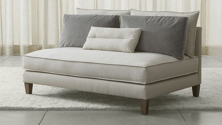 Multipurpose armless loveseat sofas