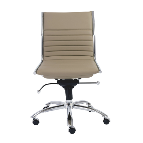 Thelma Armless Office Chair, Taupe