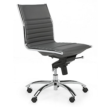 Malcolm Armless Desk Chair - Grey | Jett Desk White Aqua Office