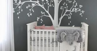 Baby Bedroom Home Art Decor Cute Huge Tree With Falling Leaves And