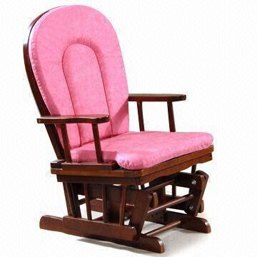 Baby Rocking Chair with Cushions, Made of Imported Rubber Wood