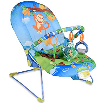 Amazon.com : Baby Bouncer Swing Rocker Reclining Chair With Toys