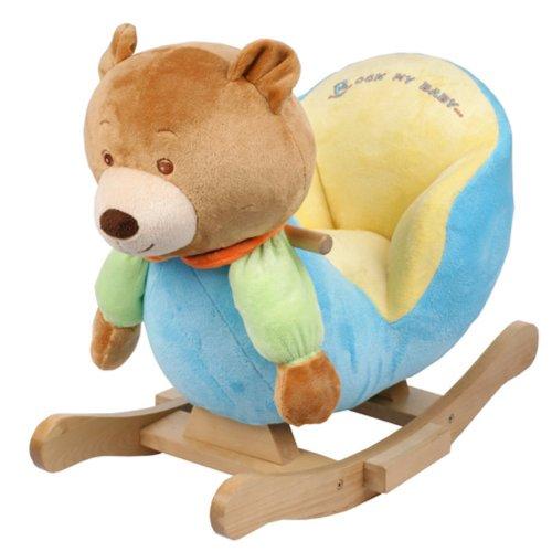 Plush Bear Baby Rocking Chair Kids Toy Ride Rocker Plush Toddler | eBay