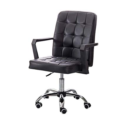 Amazon.com: MMLI-Chairs Mid Back Support Office Chair Steel Feet