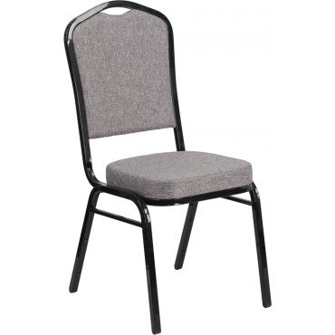 Buy EvenStable Crown Back Stacking Banquet Chairs with Black Frame