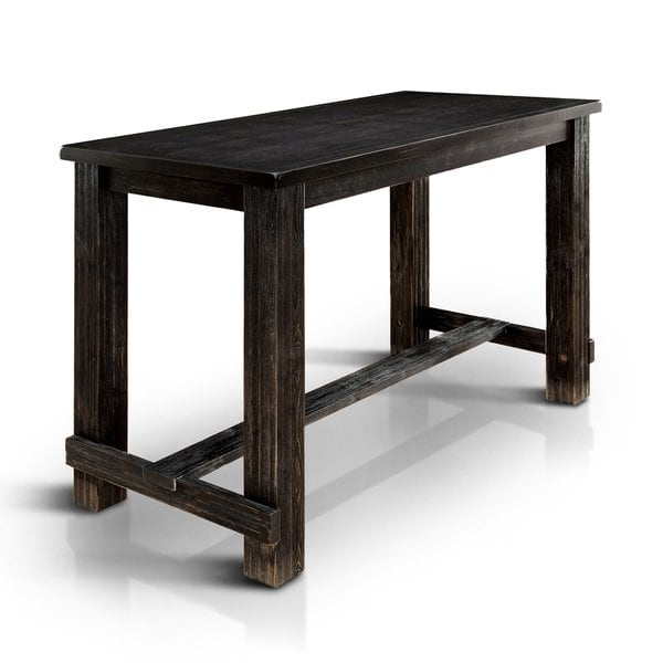 Shop Telara Contemporary Antique Black Bar Table by FOA - On Sale