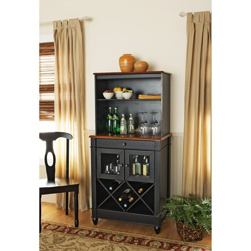 Simple and sleek bar hutch design. | Hutch Designs / Ideas