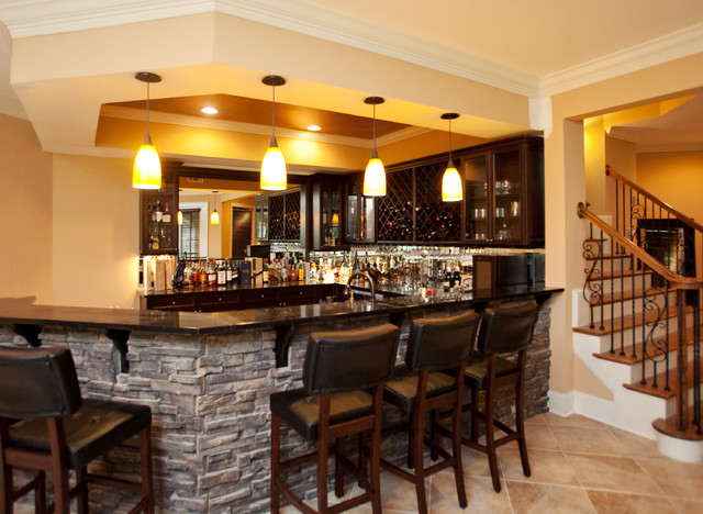 Inverness Residence Bar - Traditional - Basement - Atlanta - by