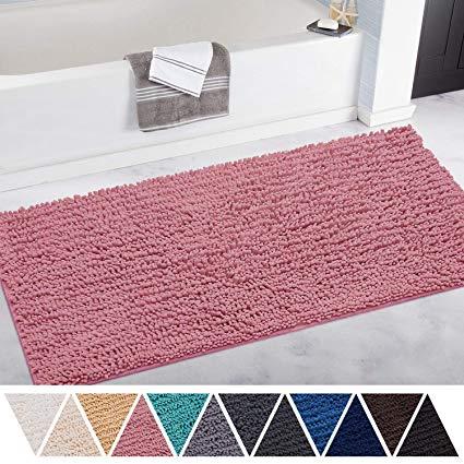 Amazon.com: DEARTOWN Non-Slip Thick Microfiber Bathroom Rugs