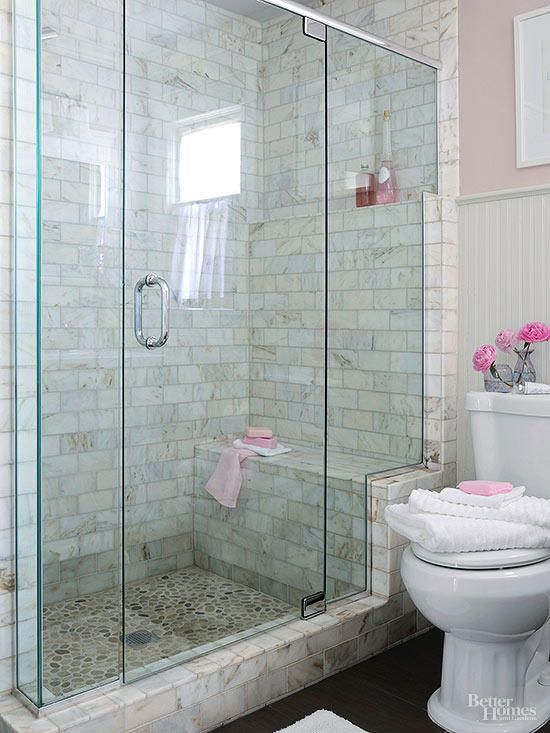 Absolutely Stunning Walk-In Showers for Small Baths | Makeover Ideas
