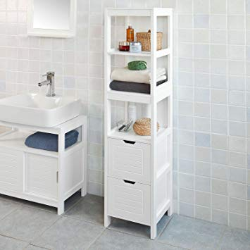 Amazon.com: Haotian FRG126-W, White Floor Standing Tall Bathroom