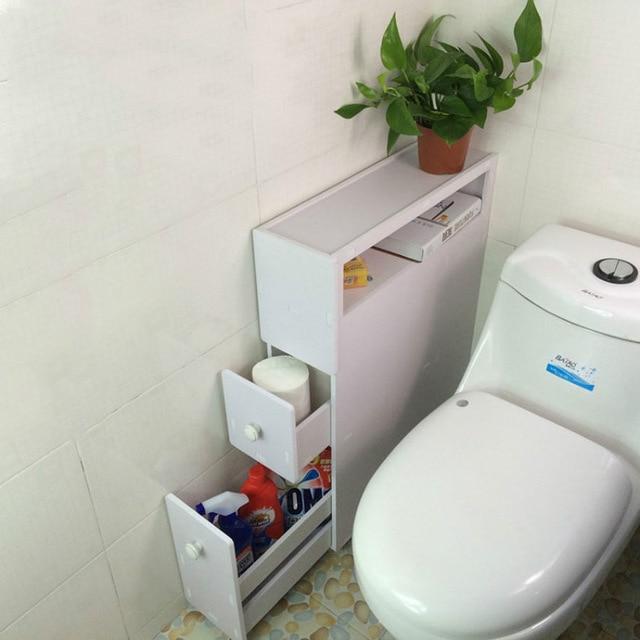 YONTREE 1 PC Japanese Style Bathroom Storage Cupboard Wood plastic