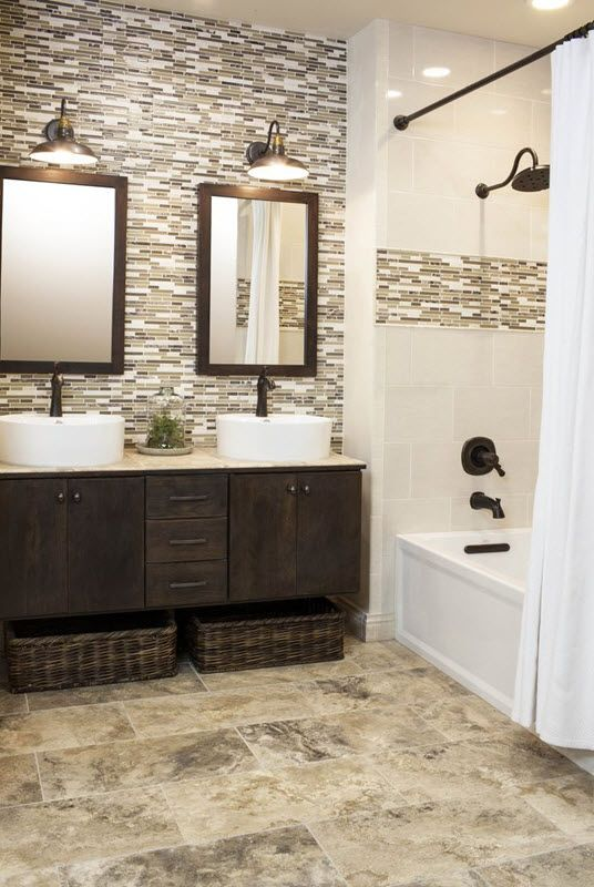 Bathroom Tile Ideas | Bathroom Ideas | Bathroom, Brown bathroom