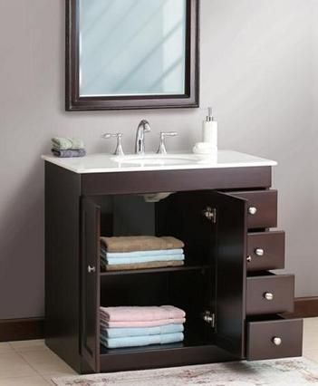 Small Bathroom Solutions: Storage Smart Bathroom Vanities | Bathroom