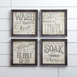 Bath & Laundry Wall Art You'll Love | Wayfair
