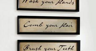 Alder Wood Bathroom Wall Art - Set of 3 | Pottery Barn