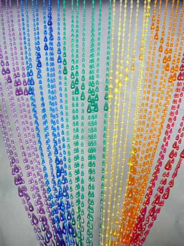 Iridescent Rainbow Raindrop Beaded Curtain - That Bohemian Girl