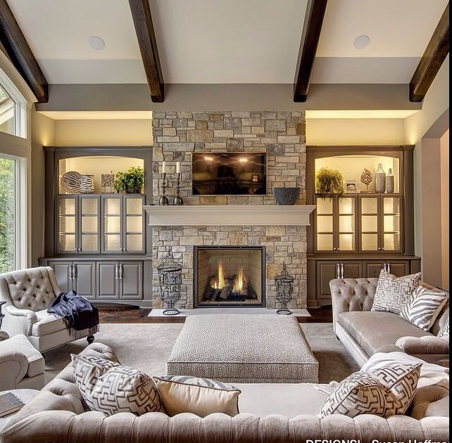 Beautiful family room u2026 | Fireplaces! | Pinteu2026