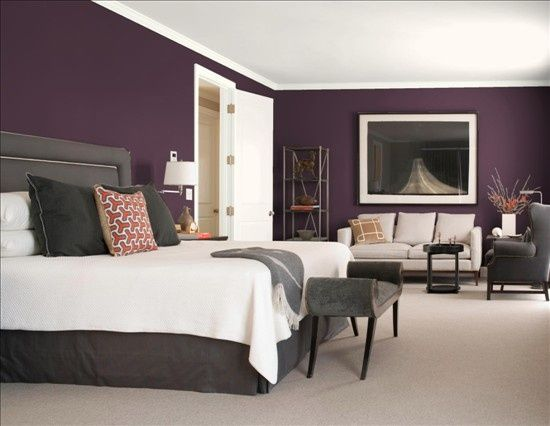 6. Purple & Gray - 8 Gorgeous Bedroom Color Schemes  → Lifestyle