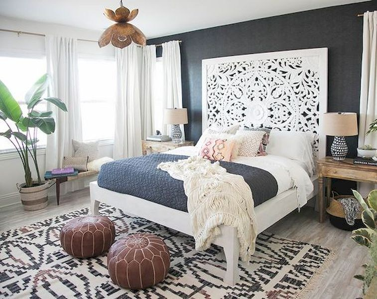 54 Modern Bohemian Bedroom Decorating Ideas - Wartaku.net