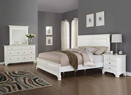 Amazon.com: Roundhill Furniture B012KDMN Laveno 012 Wood Bed Room