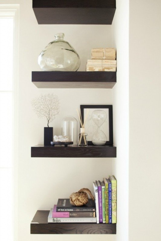 Stay organized with Bedroom shelves