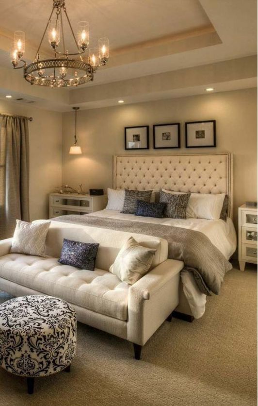 Cozy Bedroom with Couch at the Foot of the Bed | Home Decor in 2019