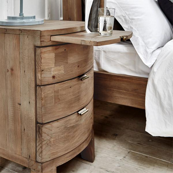 bedside tables winchester rustic bedside table next to - Design