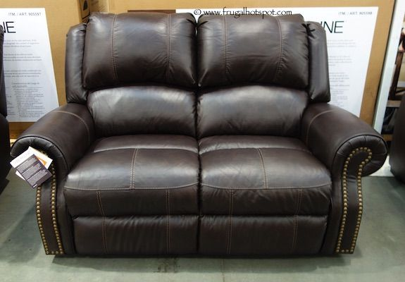 Berkline Reclining Leather Loveseat. #Costco #FrugalHotspot
