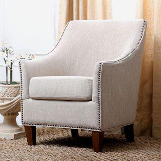 Abbyson Kimberly Fabric Nailhead Trim Armchair | Overstock.com