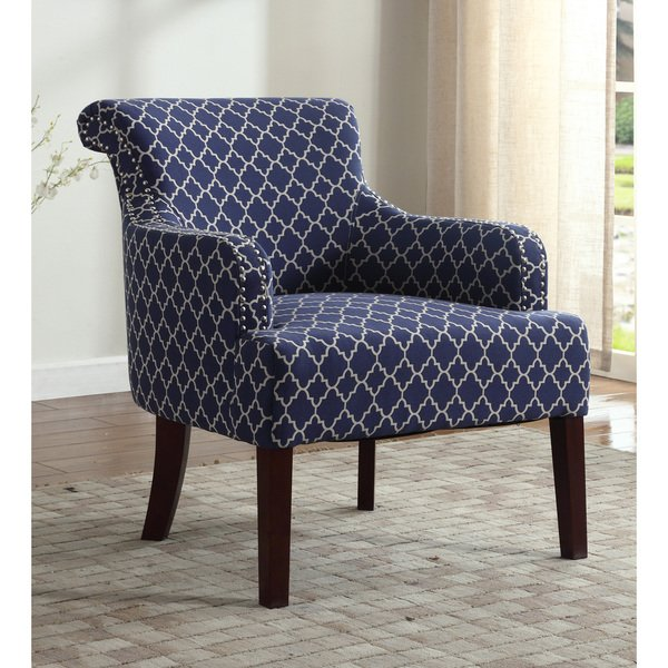 Shop Best Master Furniture Blue/and White Accent Arm Chair - Free