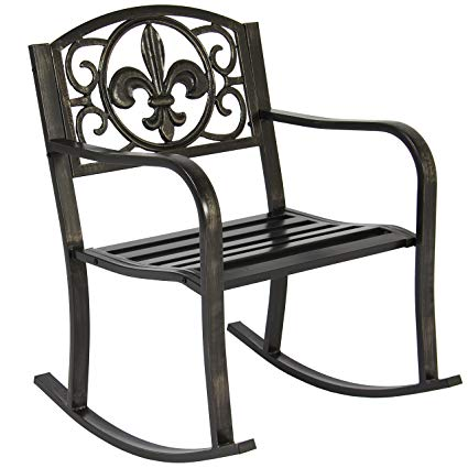Amazon.com: Best Choice Products Metal Rocking Chair Seat for Patio