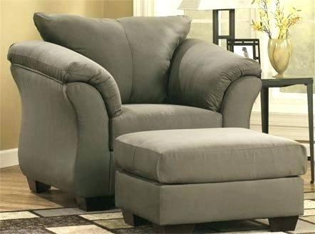 Big Chair With Ottoman Large Overstuffed Magnificent Great And