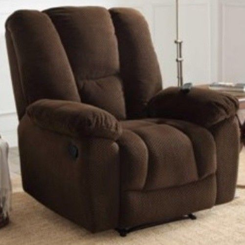 Big & Tall Brown Massage Recliners Armchair Recliner Chair LARGE Arm