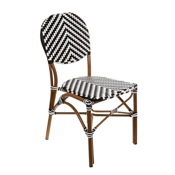BLACK/WHITE CAFE BISTRO CHAIR
