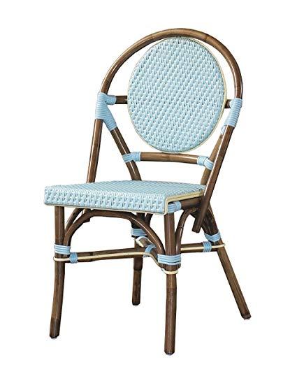Amazon.com: Padma's Plantataion Paris Bistro Chair, Blue: Kitchen