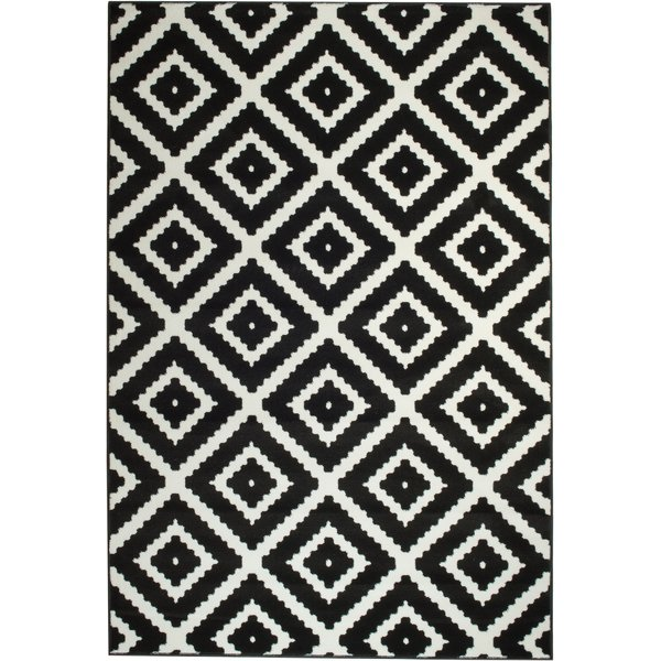 Turn on the Brights Leana Black Indoor Area Rug & Reviews | Wayfair